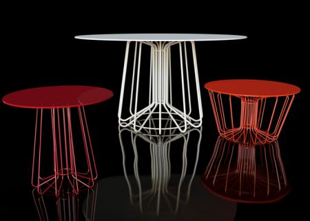 Zanotta studio italia small wire coffee table greentooth Gallery